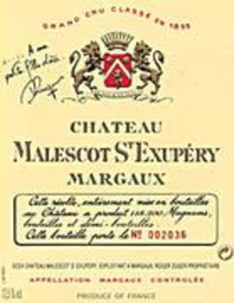Chateau Malescot St. Exupery  1995 Front Label