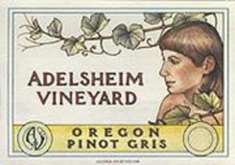 Adelsheim Pinot Gris 2002 Front Label