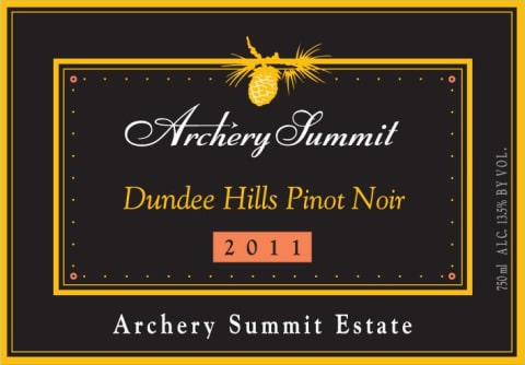 Archery Summit Archery Summit Estate Pinot Noir 2011 Front Label