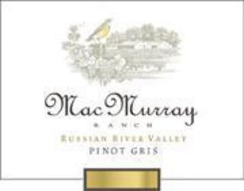 MacMurray Ranch Russian River Pinot Gris 2002 Front Label