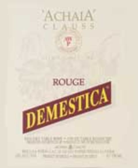 Achaia Clauss Demestica Red Front Label