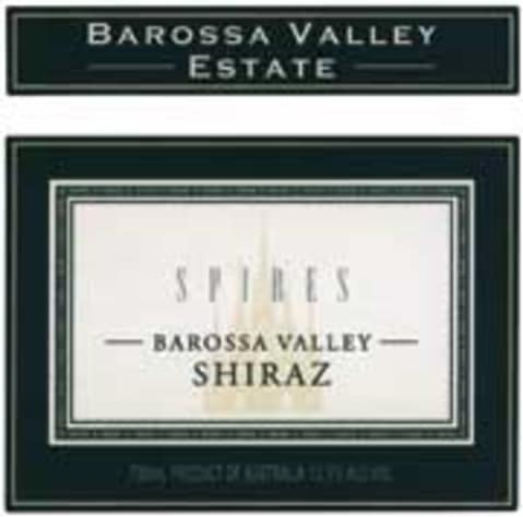 Barossa Valley Estate Spires Shiraz 2001 Front Label