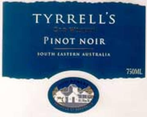 Tyrrell's Old Winery Pinot Noir 2002 Front Label