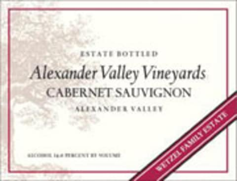 Alexander Valley Vineyards Cabernet Sauvignon 2001 Front Label
