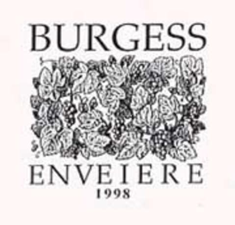 Burgess Enveiere 1998 Front Label