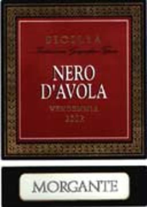 Morgante Nero d'Avola 2002 Front Label