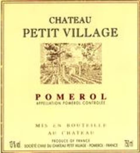 Chateau Petit Village  1990 Front Label
