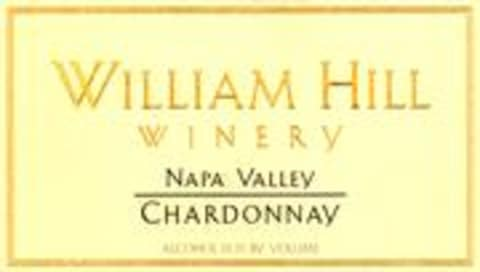 William Hill Napa Valley Chardonnay 1998 Front Label