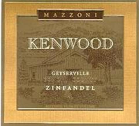 Kenwood Mazonni Ranch Reserve Zinfindel 1996 Front Label