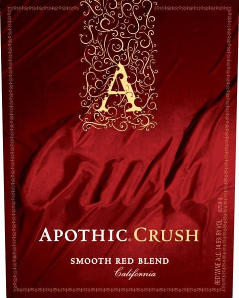 Apothic Crush Red Blend 2016 Front Label