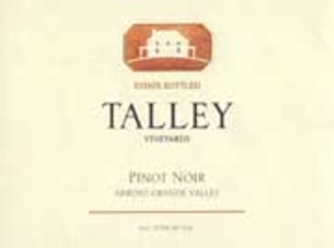 Talley Arroyo Grande Valley Estate Pinot Noir 2001 Front Label