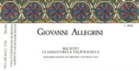Allegrini Recioto Valpolicella Giovanni Allegrini (500ml) 2000 Front Label