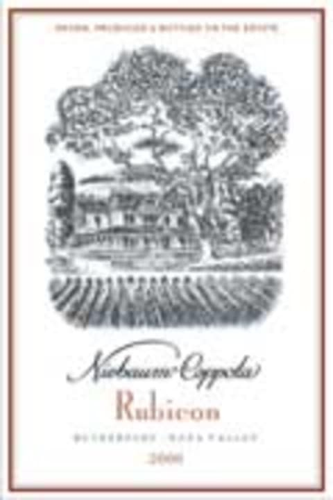 Inglenook Rubicon 2000 Front Label