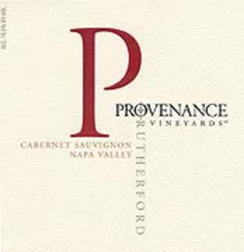 Provenance Vineyards Rutherford Cabernet Sauvignon 2001 Front Label