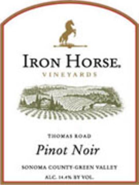 Iron Horse Thomas Road Pinot Noir 2001 Front Label