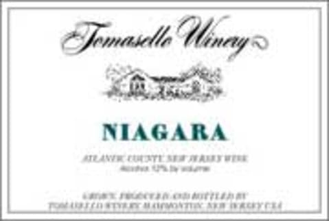 Tomasello Winery Atlantic County Niagara Front Label