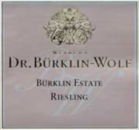 Burklin-Wolf Estate Riesling 2002 Front Label
