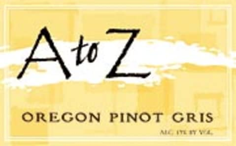 A to Z Pinot Gris 2003 Front Label