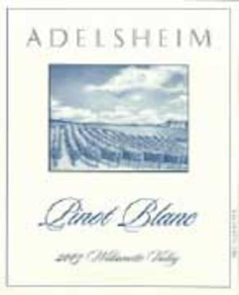 Adelsheim Pinot Blanc 2003 Front Label