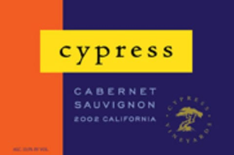 J. Lohr Vineyards & Wines Cypress Cabernet Sauvignon 2002 Front Label