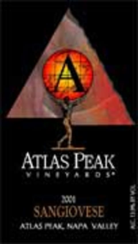 Atlas Peak Sangiovese 2001 Front Label