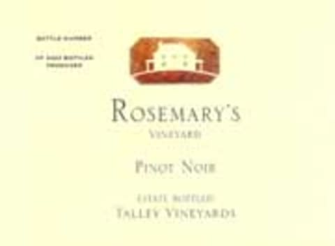 Talley Rosemary's Vineyard Pinot Noir 2001 Front Label