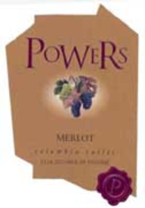 Powers Merlot 2002 Front Label
