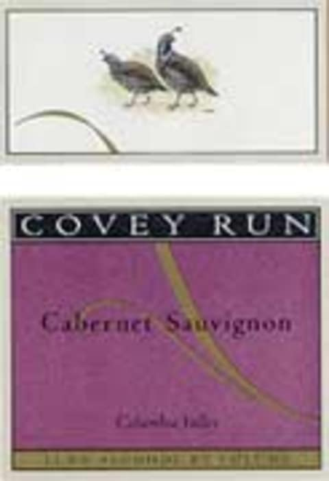 Covey Run Cabernet Sauvignon 2002 Front Label