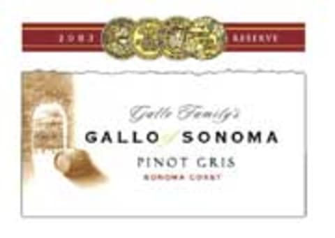 Gallo of Sonoma Pinot Gris 2003 Front Label