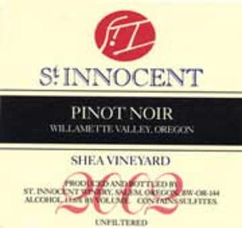 St. Innocent Shea Vineyard Pinot Noir 2002 Front Label