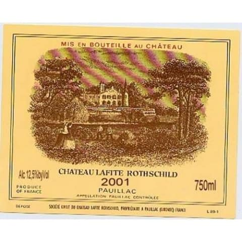 Chateau Lafite Rothschild  2001 Front Label