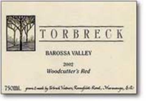 Torbreck Woodcutters Shiraz 2003 Front Label