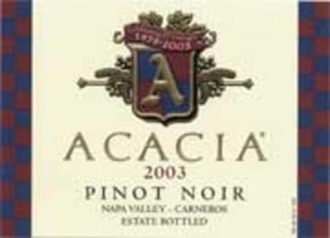 Acacia Carneros Pinot Noir 2003 Front Label