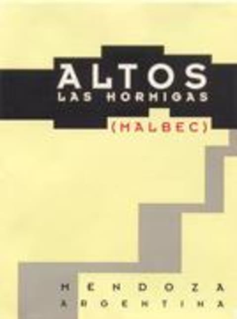 Altos las Hormigas Malbec 1999 Front Label
