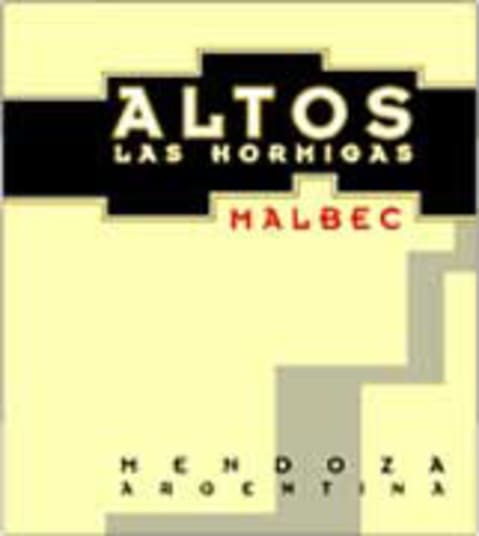 Altos las Hormigas Malbec 2003 Front Label