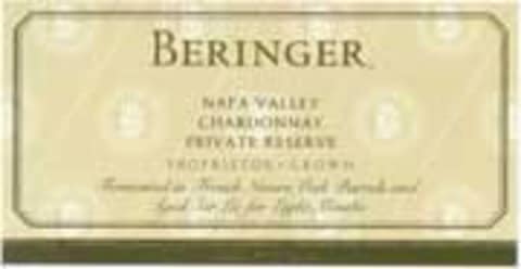 Beringer Private Reserve Chardonnay 2003 Front Label