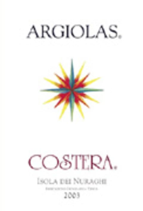 Argiolas Costera 2003 Front Label