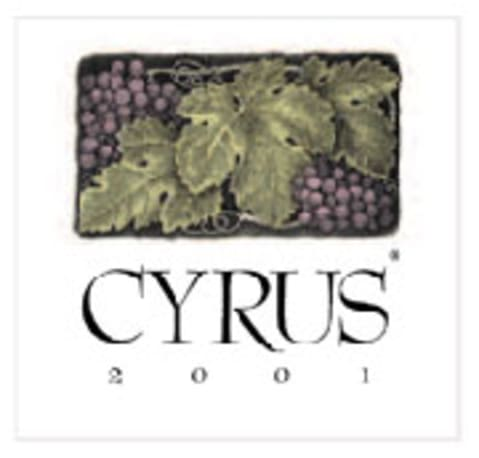 Alexander Valley Vineyards Cyrus 2001 Front Label