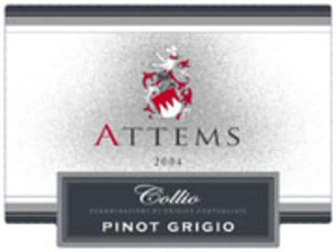Attems Pinot Grigio 2004 Front Label