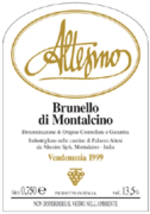 Altesino Brunello di Montalcino 2000 Front Label