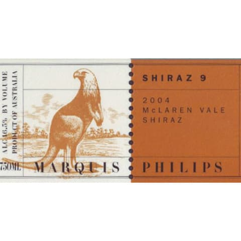 Marquis Philips S9 Shiraz 2004 Front Label