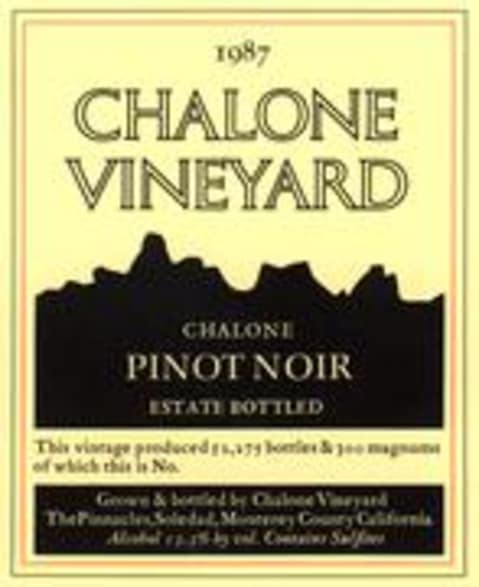 Chalone Estate Pinot Noir 1997 Front Label