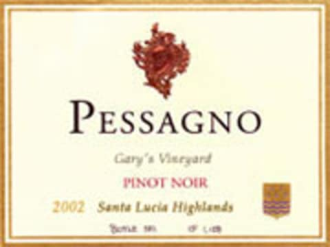 Pessagno Winery Garys' Vineyard Pinot Noir 2002 Front Label