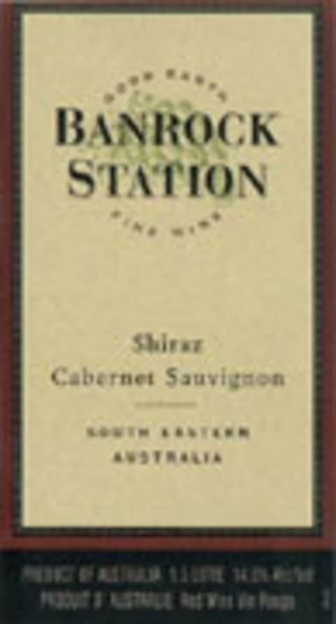 Banrock Station Shiraz 2004 Front Label