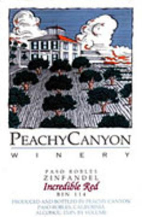 Peachy Canyon Incredible Red Zinfandel 2004 Front Label