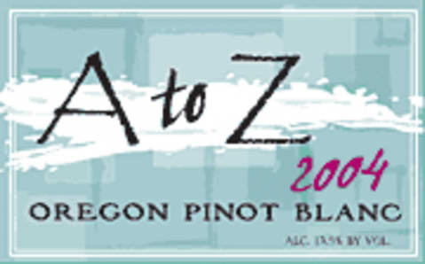 A to Z Pinot Blanc 2004 Front Label