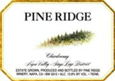 Pine Ridge Stags Leap Chardonnay 1998 Front Label