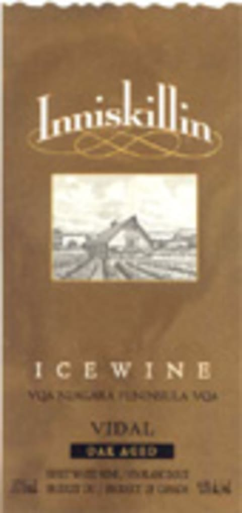 Inniskillin Oak-aged Vidal Icewine (375ML half-bottle) 2004 Front Label
