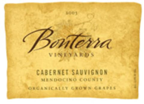 Bonterra Organically Grown Cabernet Sauvignon 2003 Front Label