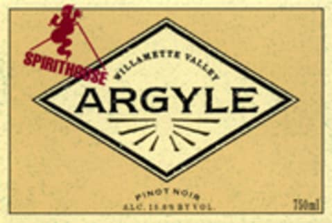 Argyle Spirithouse Pinot Noir 2004 Front Label